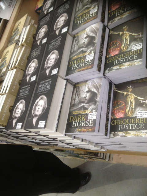 """CHEQUERED JUSTICE & DARK HORSE: """"We've never had a book in our business for such an extended period!"""