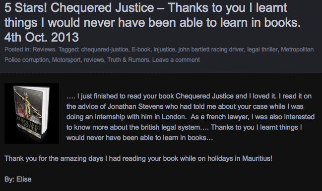 Canadian Lawyer Slams Chequered Justice! (3/6)